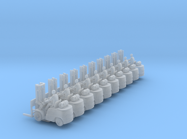 ForkLift 01. 1:144 Scale. in Smooth Fine Detail Plastic