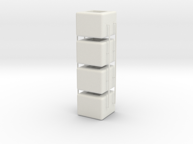 Caps v1 in White Natural Versatile Plastic