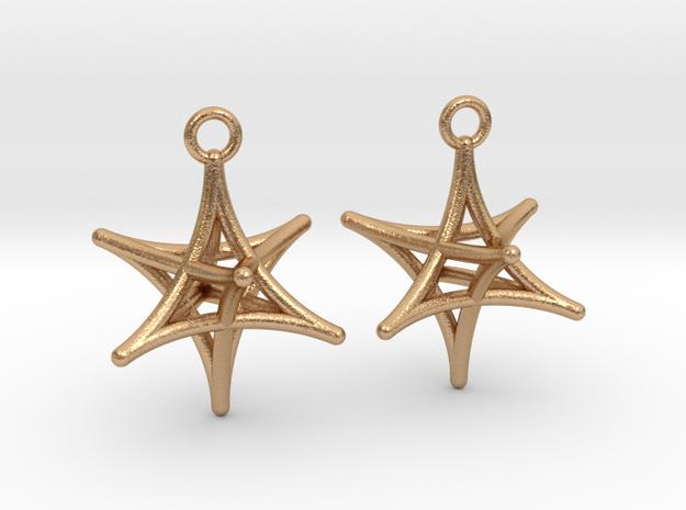 Merkaba Earrings in Natural Bronze