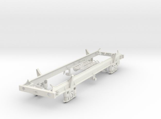 7mm TUA Carless tank wagon chassis LWB in White Natural Versatile Plastic