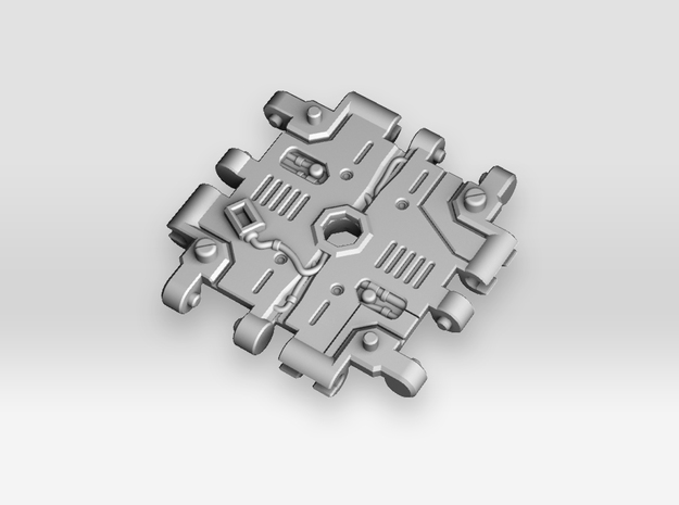 Cross Junction Connector 2 for Earthrise in White Processed Versatile Plastic