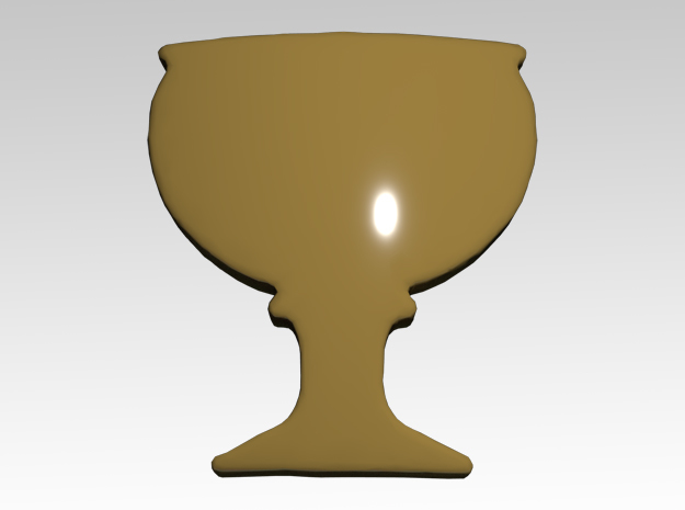 Chalice 3 Shoulder Icons x50 in Smooth Fine Detail Plastic