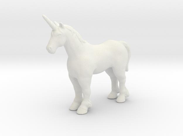Unicorn 1/60 DnD miniature fantasy games and rpg in White Natural Versatile Plastic