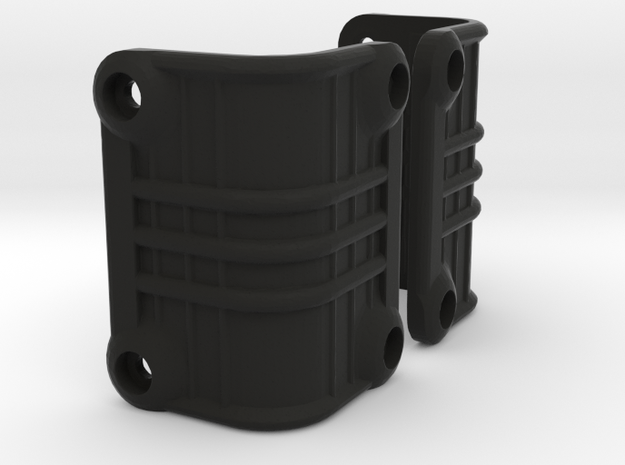 Ascender K5 Blazer Rear Light Bucket Covers (STL) in Black Natural Versatile Plastic