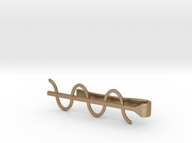 Cosine Wave Tie Bar (Metals) 3d printed