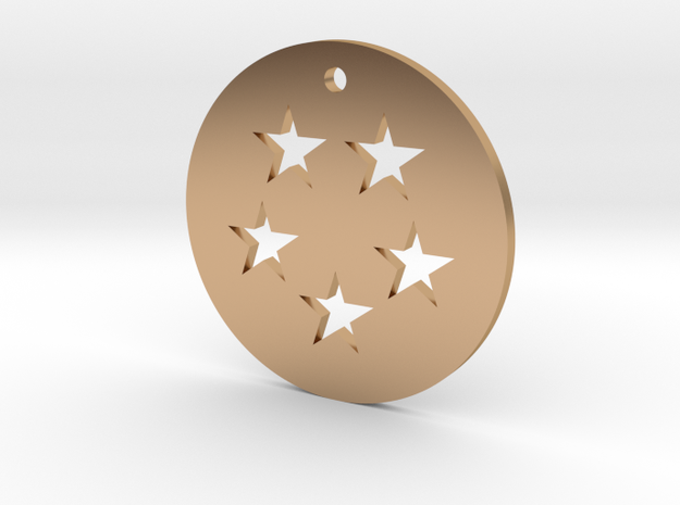 Five Star Dragon Ball Charm in Polished Bronze