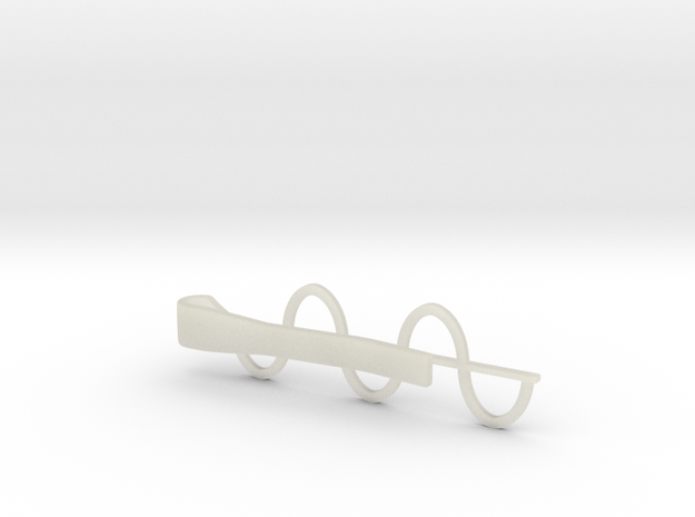 Sine Wave Tie Bar (Plastics) in White Natural Versatile Plastic