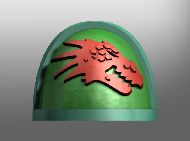 Strategicum ptrn. S. Pads: Specular Fire Lizards in Smooth Fine Detail Plastic: Small