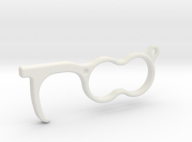 Covid-19 Corona hygienic door opener hook in White Natural Versatile Plastic