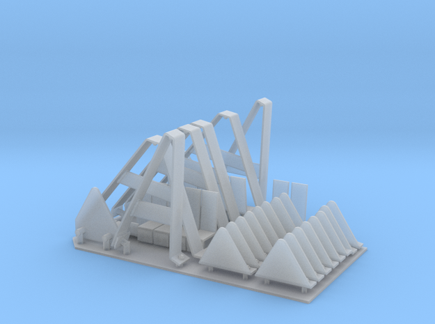 StuG IV Schurzen hangers with extra teeth 1:15 in Smooth Fine Detail Plastic