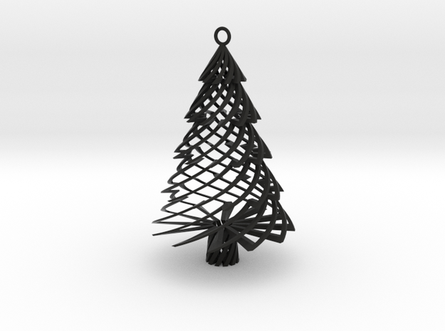 Twisted Tree Ornament 3d printed