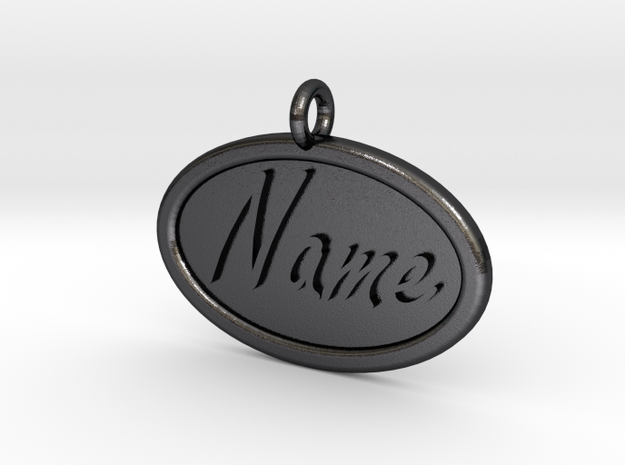 Oval Pet Tag / Pendant 3d printed