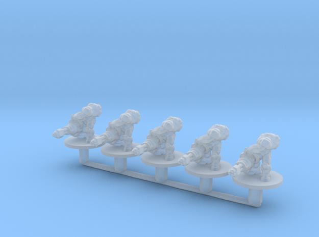 Starcraft marines chaingun 6mm Infantry Epic mini in Smooth Fine Detail Plastic