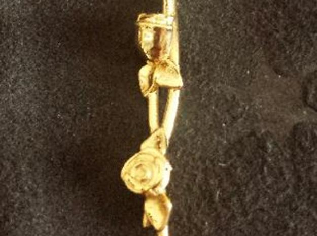 Pendente Rose  in 18k Gold Plated Brass