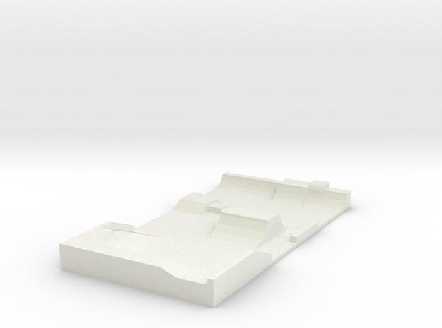 Skatepark 1/220 in White Natural Versatile Plastic
