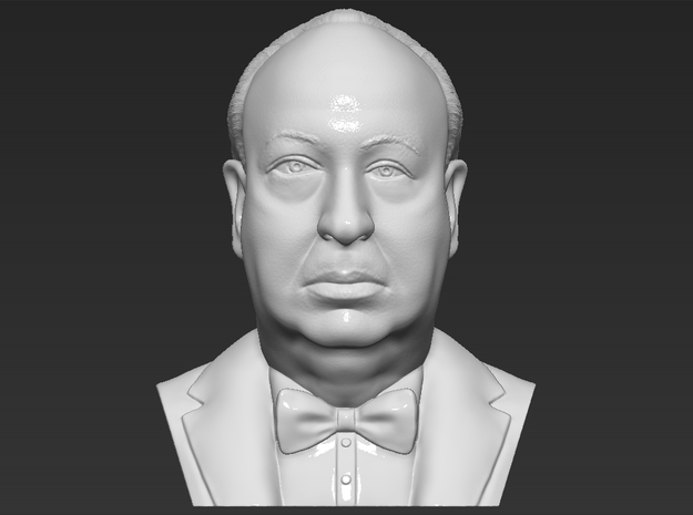 Alfred Hitchcock bust in White Natural Versatile Plastic