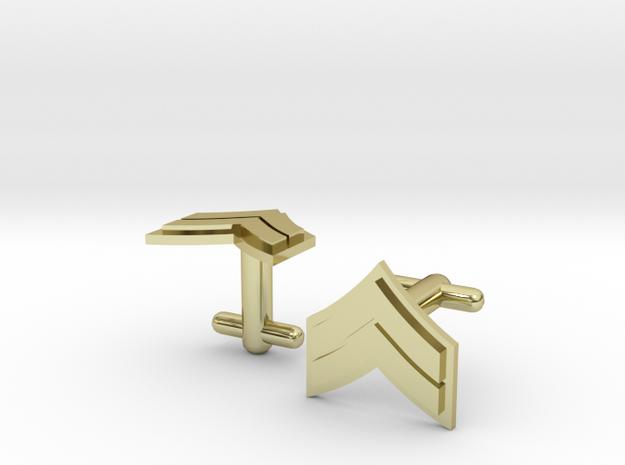 Corporal Cufflinks - Silver, Brass, Gold 3d printed