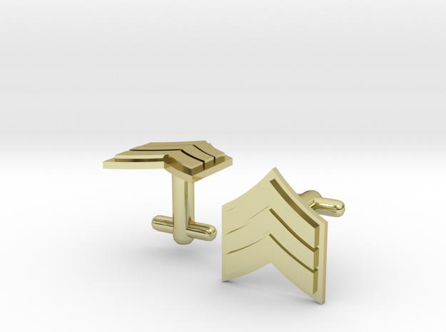 Sergeant Cufflinks - Silver,Brass,Gold 3d printed