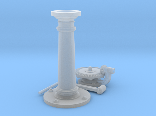 Underground Valve Floor Stand F Scale in Smooth Fine Detail Plastic