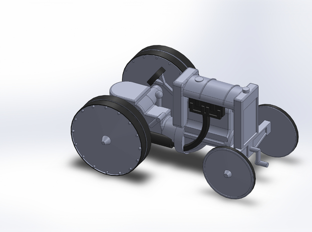 1920 FORD INDUSTRIAL TRACTOR in Smooth Fine Detail Plastic