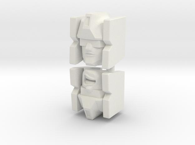 Frenzy/Rumble for PotP Wreck-Gar (4mm socket) in White Natural Versatile Plastic