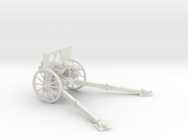 1/48 QF 3.7 inch mountain howitzer in White Natural Versatile Plastic