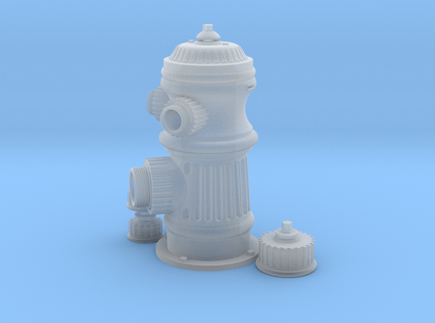 Fire Hydrant F Scale in Smooth Fine Detail Plastic