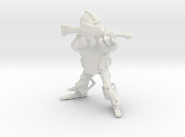 Imperium Guardian Lasgun Rifle1 in White Natural Versatile Plastic