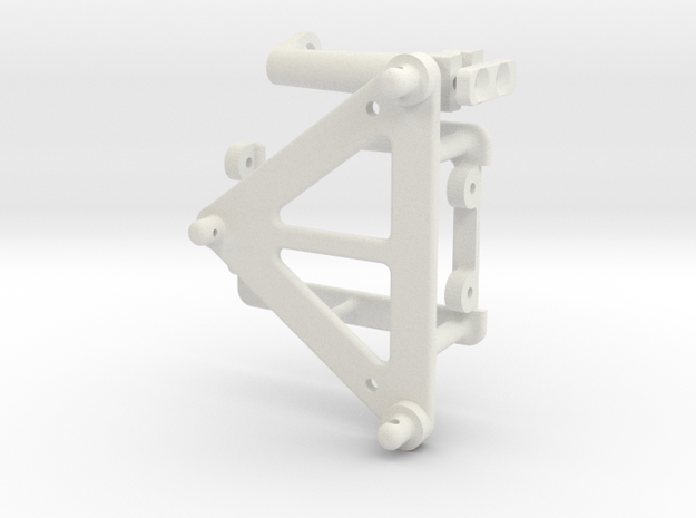 AS2002-0A Axial SCX10 II F100 SC Mount (1 of 4) in White Natural Versatile Plastic