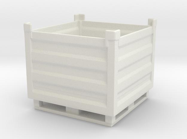 Palletbox Container 1/43 in White Natural Versatile Plastic