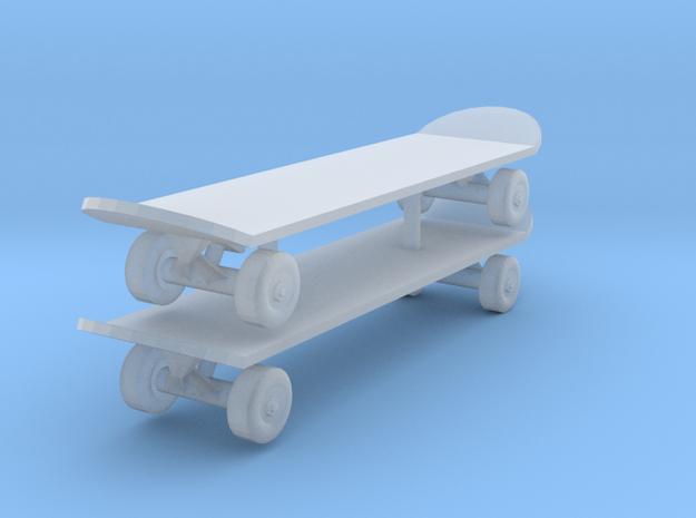 1/24 skateboard in Smooth Fine Detail Plastic