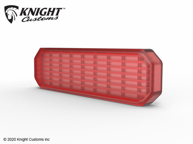 KCJL1017 JL Tire Carrier light lens in Smooth Fine Detail Plastic