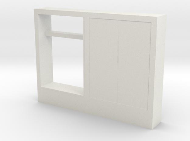 Modern Miniature 1:48 Hallway Furniture in White Natural Versatile Plastic: 1:48 - O