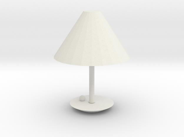 Modern Lamp in White Natural Versatile Plastic: Small