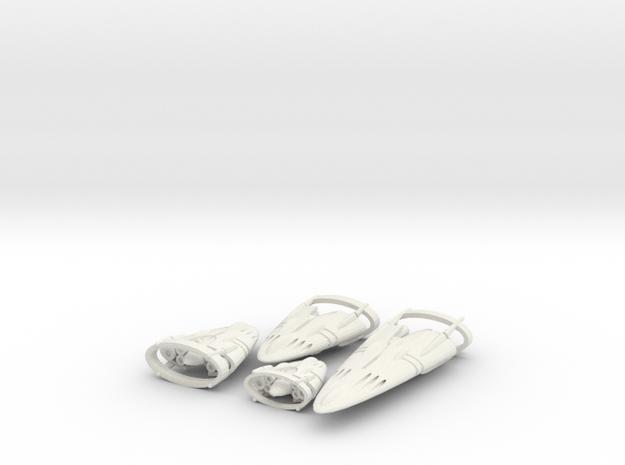 Slipstream E Legacy Set 1-2-3-4 in White Strong & Flexible