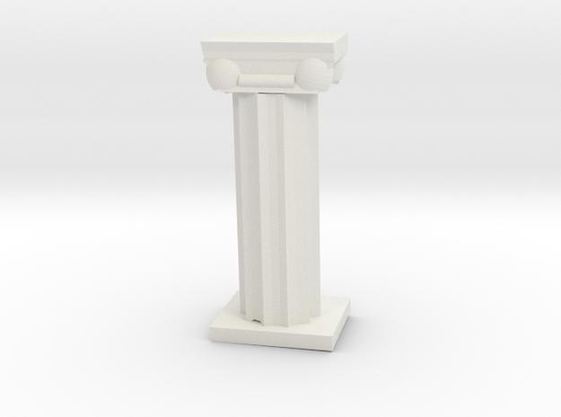 Greek Column in White Natural Versatile Plastic