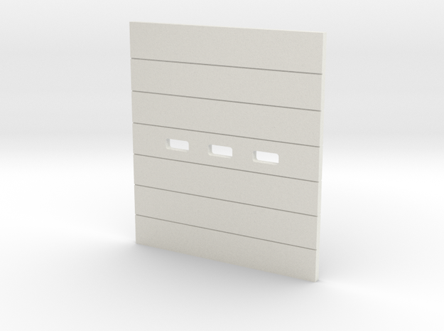 '1-50 Scale' - OH-Door 8cm x 9cm in White Natural Versatile Plastic