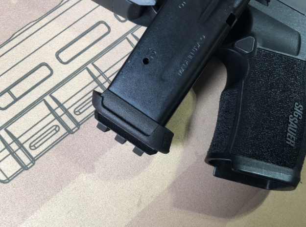 XL-Pro-Railed based for Sig P365 XL in Black PA12