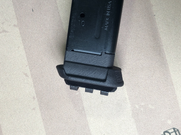 10XL-Pro-Railed for Sig P365 XL 10 Round Mag in Black PA12