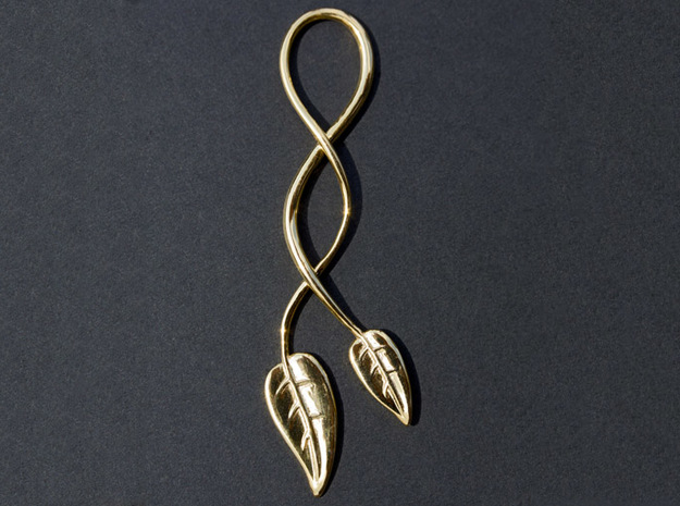 Double Leaf in 18K Gold Plated