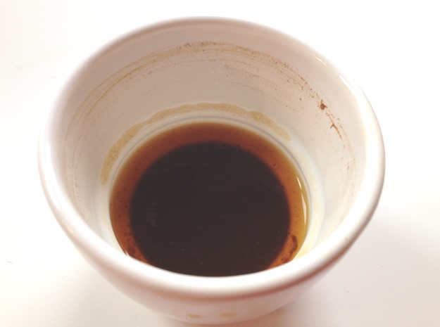 Greek / Turkish Coffee Cup 3d printed Sediment visible near end of drink