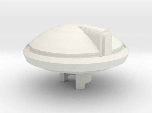 Scifi Tank Left front weapon mount  in White Natural Versatile Plastic