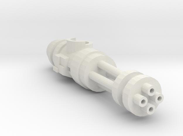 Right mounted SciFi  Burster Cannon in White Natural Versatile Plastic