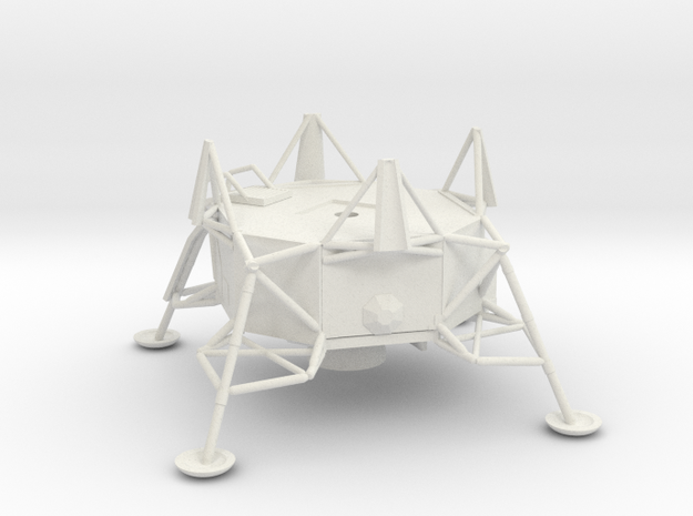 053A Lunar Module Descent Stage 1/144 in White Natural Versatile Plastic