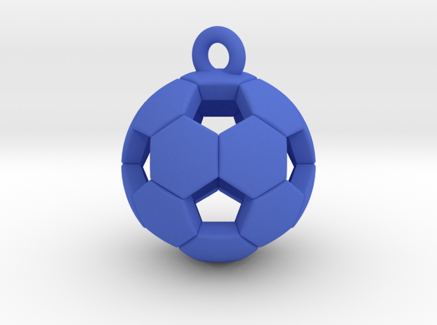 Soccer Ball Pendant in Blue Processed Versatile Plastic