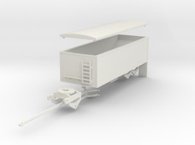 000661 Grain Trailer HO 1:87 in White Natural Versatile Plastic