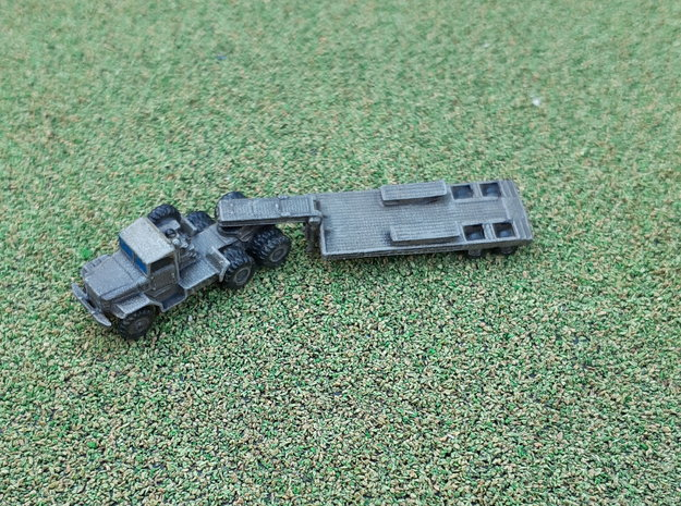 M123C Tractor w.  M172 Lowbed Trailer 1/285 in Smooth Fine Detail Plastic