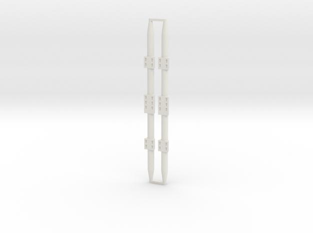 Cargo Bay Stanchion 1/18 (x2) in White Natural Versatile Plastic