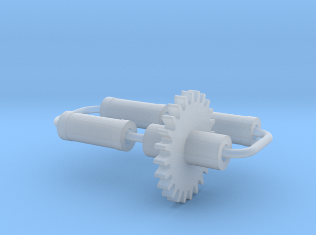 Bachmann (Replica) OO Axles & Small Gear in Smooth Fine Detail Plastic