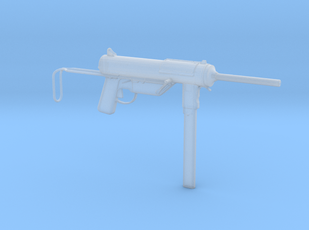 1/16th Scale M3 Grease Gun  in Smooth Fine Detail Plastic